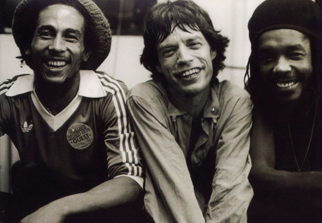 With The Rolling Stones' Mick Jagger and Peter Tosh