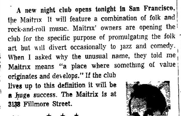 San Francisco Matrix Oakland Tribune August 13 1965