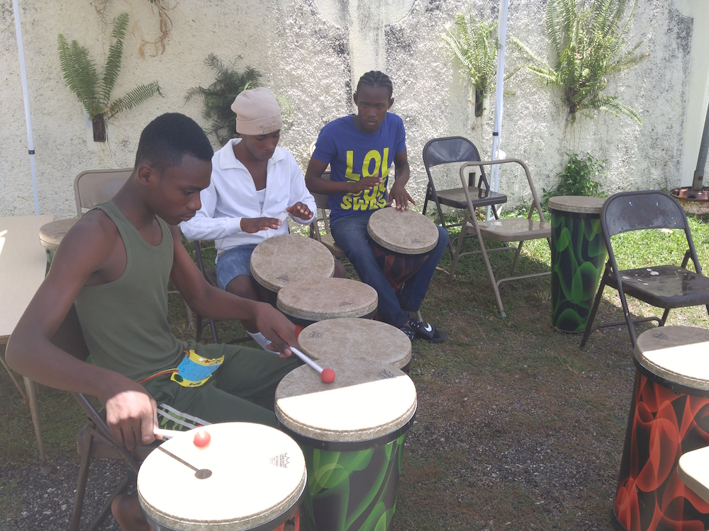 One Love Youth Camp Drum Class