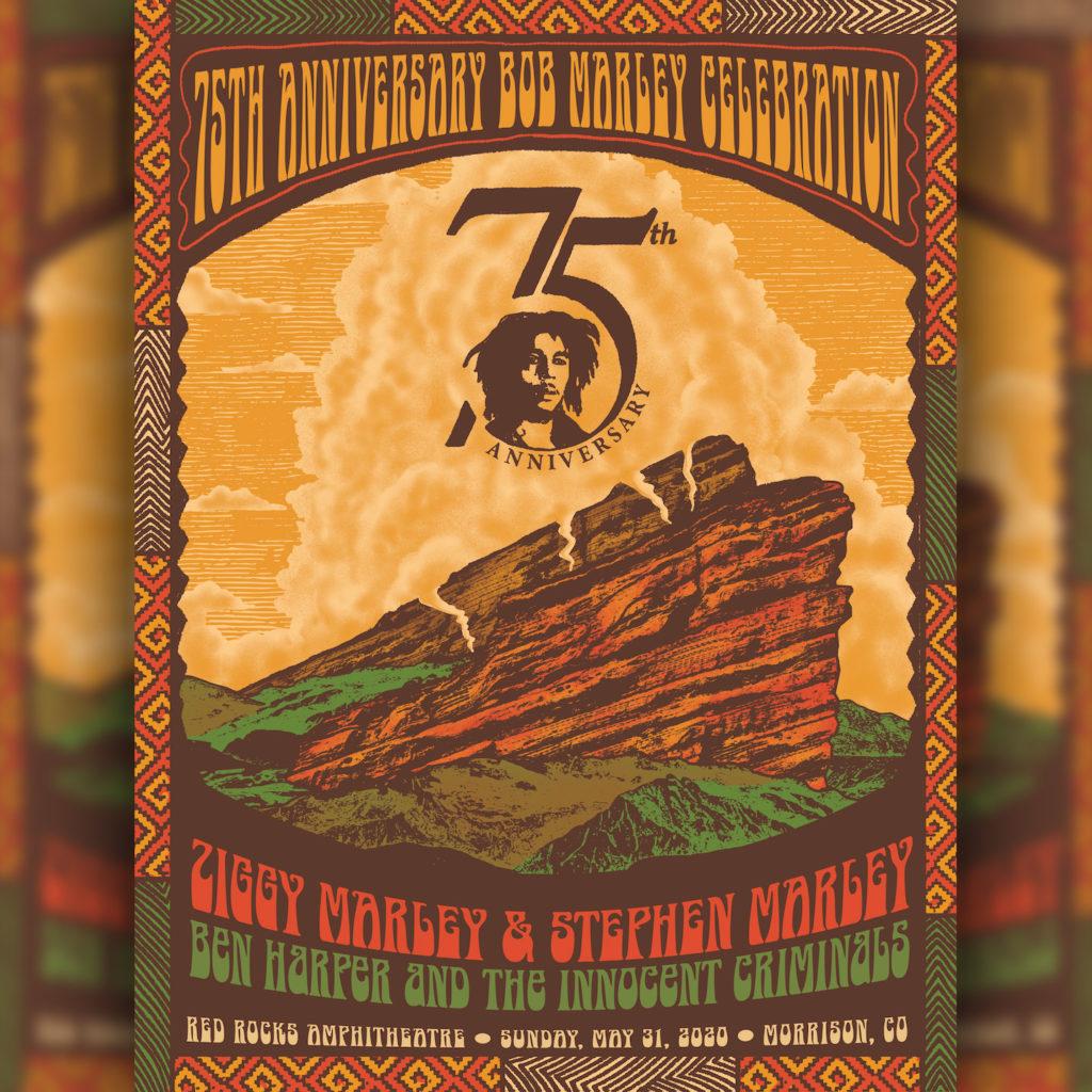 Ziggy & Stephen Marley to play #BobMarley75 set at Red Rocks in Colorado